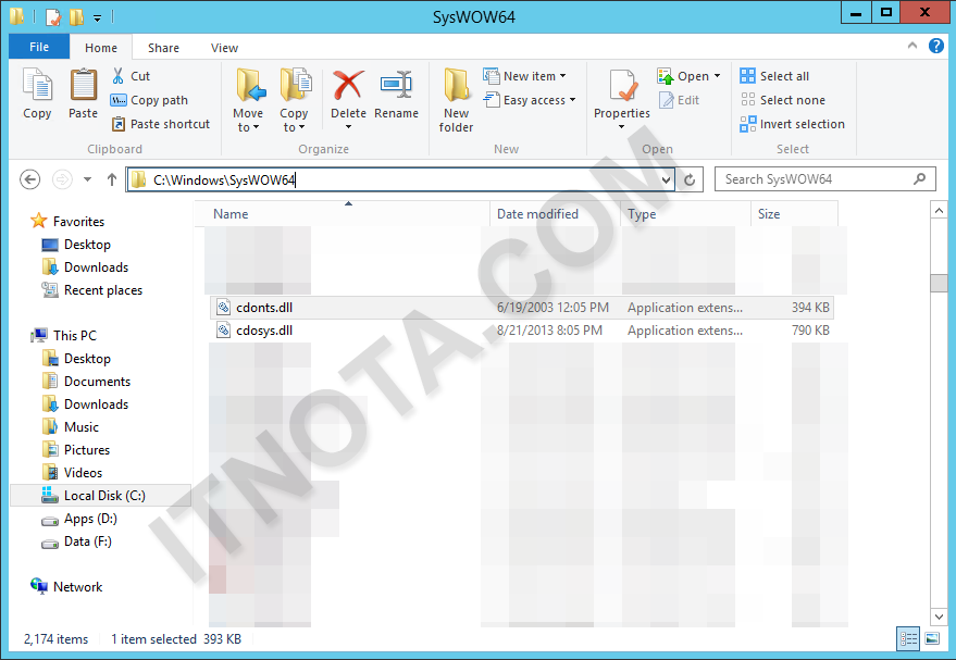 Windows server 2012 dll